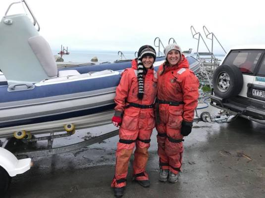 Our volunteers and interns often help out with boat-based sur